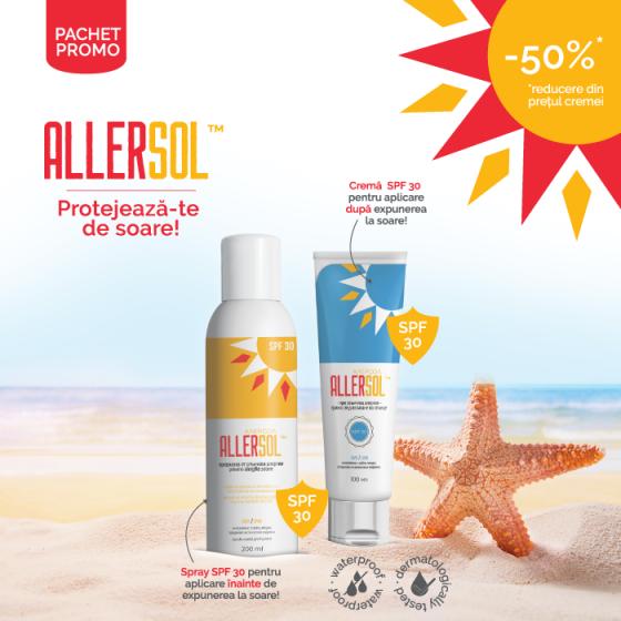 Pachet PROMO Allersol cremă + Allersol spray SPF 30