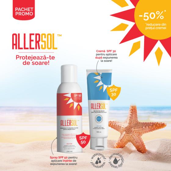 Pachet PROMO Allersol cremă + Allersol spray SPF 50